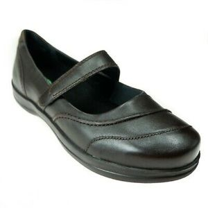 APEX Mary Janes Dark Brown Leather Women's 9.5 M